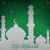 "Gold Mosque ""Ramadan Kareem"" (Generous Ramadan) card in vector format. — Stock Photo"