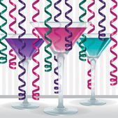 Bright cocktail and ribbon card — Stock Photo