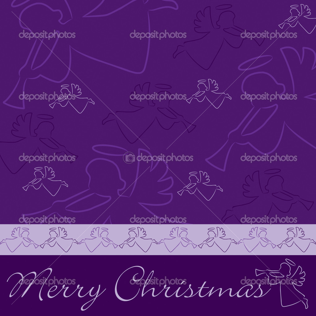 "Hand drawn angel ""Merry Christmas"" card — Stockfoto #13622918"