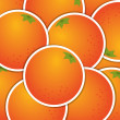 Orange sticker background card in vector format — Stock Photo