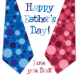 Bright design Happy Fathers Day neck tie card in vector format — Stock Photo #15354849