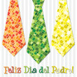 Bright design Happy Fathers Day neck tie card in vector format — Stock Photo