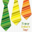 Bright Happy Fathers Day neck tie card in vector format — Stock Photo #15355357