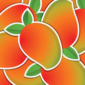 Mango sticker background card in vector format — Stock Photo
