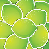 Lime sticker background card in vector format — Stock Photo