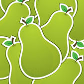Pear sticker background card in vector format — Stock Photo