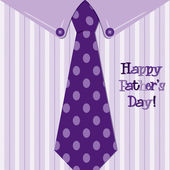 Bright shirt and tie Happy Fathers Day neck tie card in vector format — Stock Photo