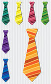 Bright horizontal stripe silk tie stickers in vector format — Stock Photo