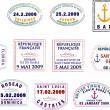 Caribbean and South American Passport Stamps - Stock Photo