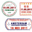 A collection of world airport stamps — Stock Photo #15374721