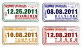 Paspoort postzegels uit finland in vector-formaat — Stockfoto