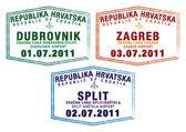 Passport stamps from Croatia — Stock Photo
