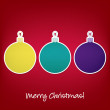 Merry Christmas sticker bauble card in vector format - Stock vektor