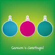 Season Greetings sticker bauble card in vector format - Stock vektor