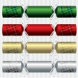 Plaid Christmas crackers in vector format - Stock Vector