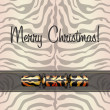 Zebra inspired Christmas card in vector format - Stock vektor