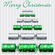 Merry Christmas cracker card in vector format - Stock Vector