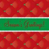 Seasons Greetings bling card in vector format. — Stock Vector