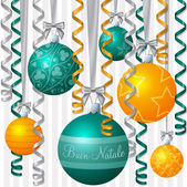 """Ribbon and bauble inspired """"Season's Greetings"""" card in — Stock Vector"""