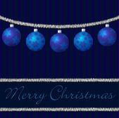 蓝色金属丝和球卡矢量格式 — 图库矢量图片