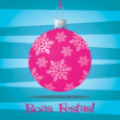 Funky Portuguese Brazil Christmas decoration card in vector format - Stok Vektör