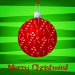 Bright bauble fun Christmas card in vector format. - 图库矢量图片