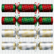 Plaid Tartan Christmas crackers in vector format. - Stock Vector