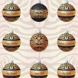 Tiger inspired Christmas baubles in vector format - Stock Vector