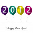 2012 Happy New Year card in vector format. — Stock Vector