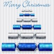 Merry Christmas cracker card in vector format. - Stock Vector