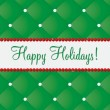 Happy Holidays bling card in vector format. — Vector de stock #17442137