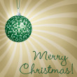 Mirror ball Merry Christmas card in vector format. — Stockvektor