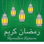 Lantern Ramadan Kareem card in vector format — Stock Vector