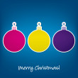Merry Christmas sticker bauble card in vector format — 图库矢量图片