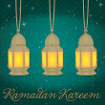 "Lantern ""Ramadan Kareem"" (Generous Ramadan) card in vector format — Stock Vector"