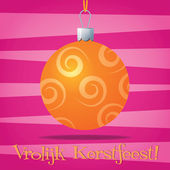 Funky Dutch Christmas decoration card in vector format — Stock Vector