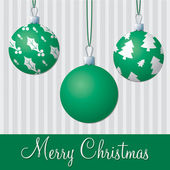 Formal green and silver Christmas card in vector format — Stock Vector