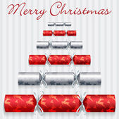 Merry Christmas cracker card in vector format. — Wektor stockowy