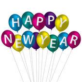 Happy New Year card in vector format — Stock Vector