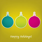 Happy Holidays sticker bauble card in vector format — Stock Vector