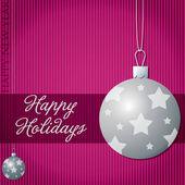 幸せな休日の安物の宝石カード ベクトル形式で — ストックベクタ