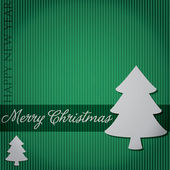 Cut out Merry Christmas tree card in vector format. — Stockvektor