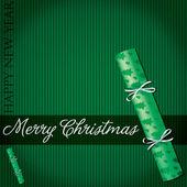 Merry Christmas cracker card in vector format — Stock Vector