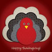 Spotty turkey Thanksgiving card in vector format. — Stock Vector