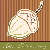 Hand drawn acorn Thanksgiving card in vector format. — Stock Vector
