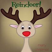 Cute raindeer — Stock Vector