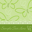 Stock vektor: All occasion butterfly card in vector format.