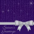Royalty-Free Stock Vector Image: Purple bow and stars Christmas card in vector format
