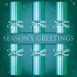 Season's Greetings stripe cracker card in vector format — Stock vektor