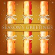 Seasons Greetings angel cracker card in vector format. — Stockvectorbeeld